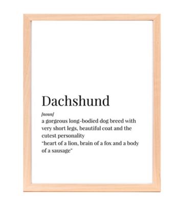 DACHSHUND POSTER | CANVAS